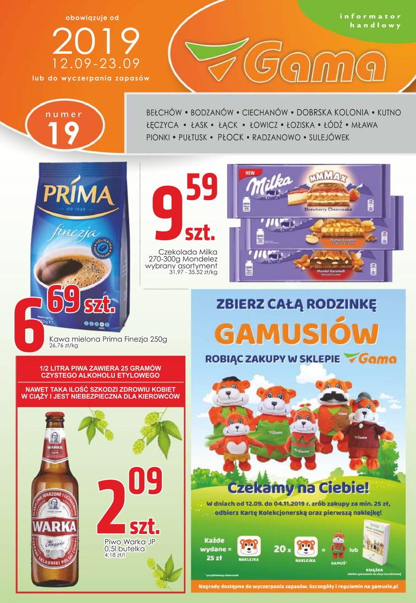 Gazetka promocyjna Gama - ważna od 12. 09. 2019 do 23. 09. 2019