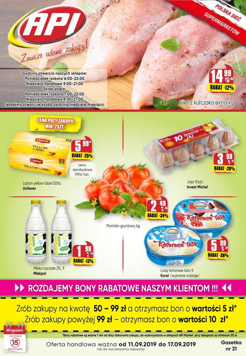 Gazetka promocyjna Api Market - ważna od 11. 09. 2019 do 17. 09. 2019