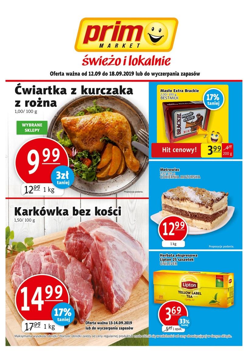 Gazetka promocyjna Prim Market - ważna od 12. 09. 2019 do 18. 09. 2019