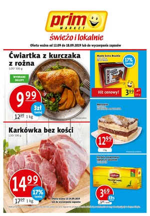 Gazetka promocyjna Prim Market, ważna od 12.09.2019 do 18.09.2019.