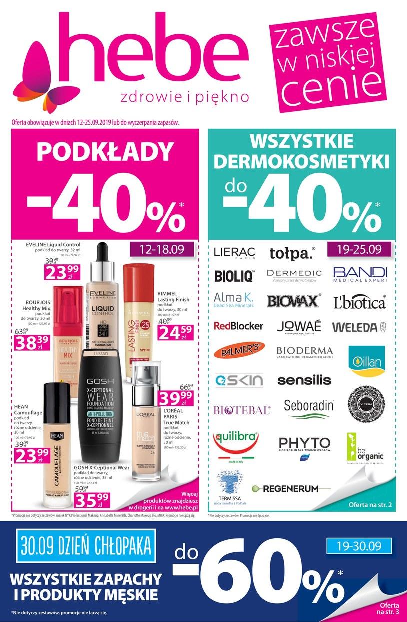 Gazetka promocyjna Hebe - ważna od 12. 09. 2019 do 25. 09. 2019