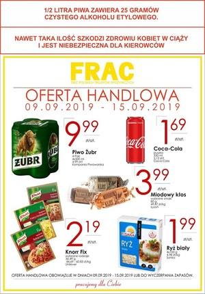 Gazetka promocyjna FRAC, ważna od 09.09.2019 do 15.09.2019.