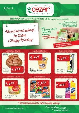 Gazetka promocyjna Delikatesy CEZAR, ważna od 12.09.2019 do 25.09.2019.