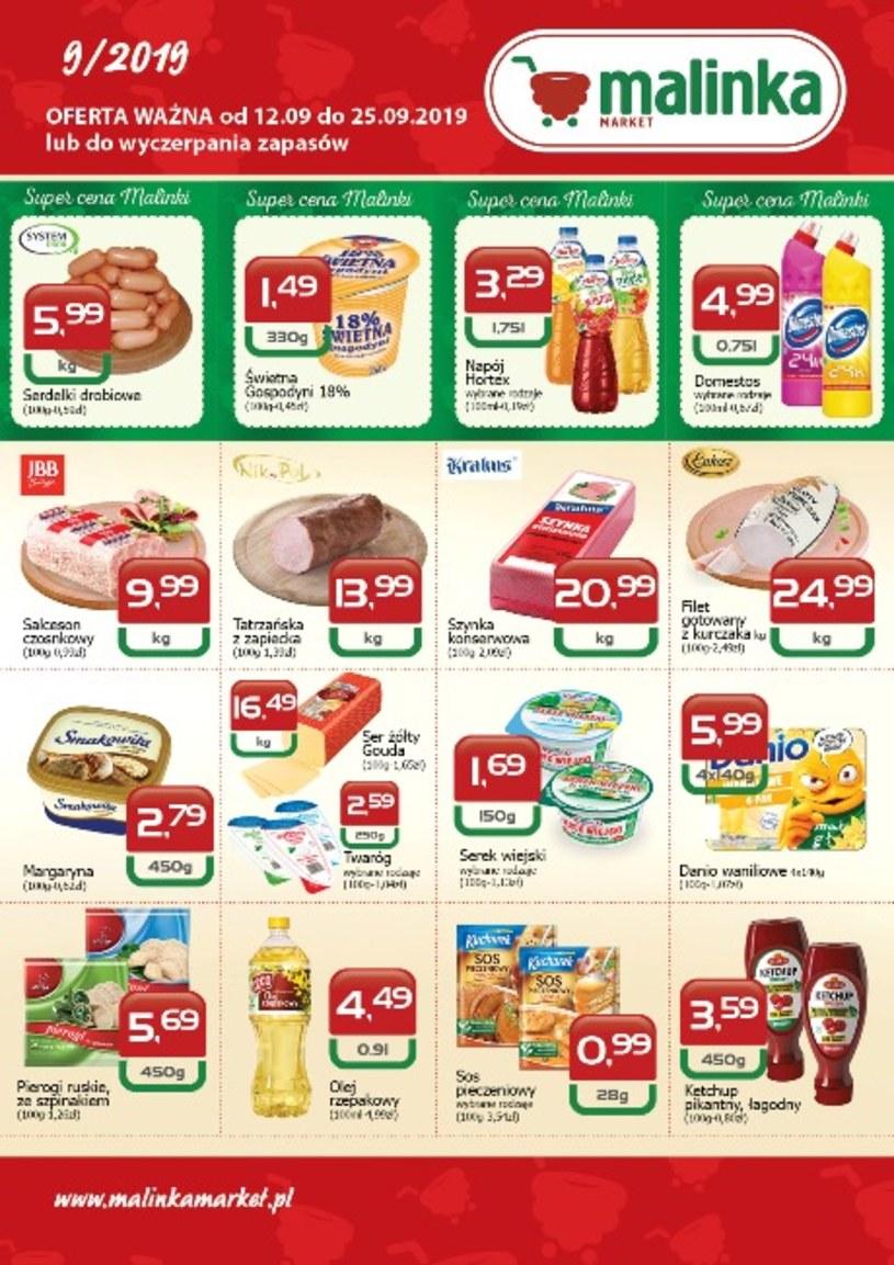 Gazetka promocyjna MALINKA Market - ważna od 12. 09. 2019 do 25. 09. 2019