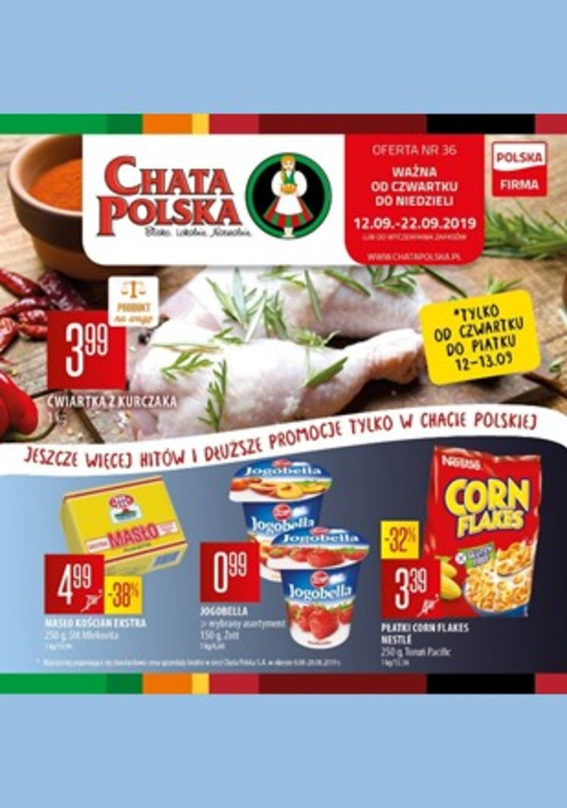 Gazetka promocyjna Chata Polska - ważna od 12. 09. 2019 do 22. 09. 2019