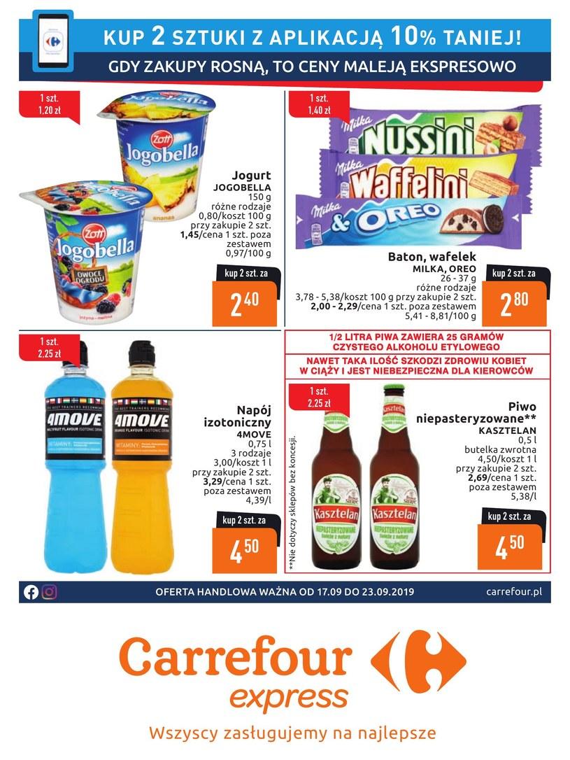 Gazetka promocyjna Carrefour Express - ważna od 17. 09. 2019 do 23. 09. 2019