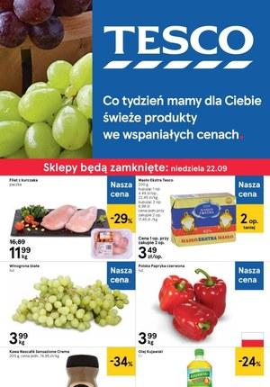 Gazetka promocyjna Tesco Centra Handlowe, ważna od 19.09.2019 do 25.09.2019.