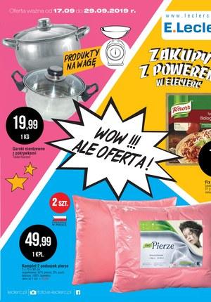 Gazetka promocyjna E.Leclerc, ważna od 17.09.2019 do 29.09.2019.