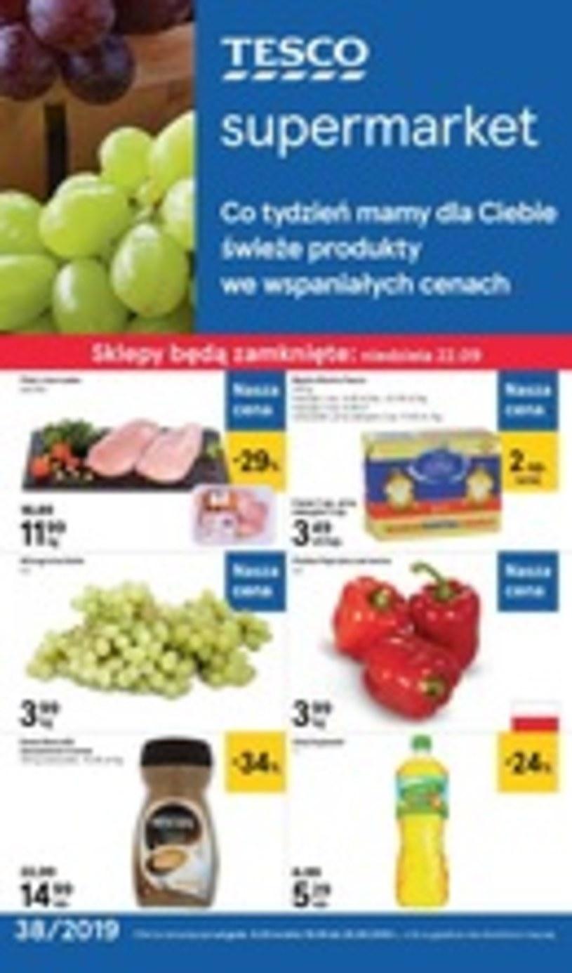 Gazetka promocyjna Tesco Supermarket - ważna od 19. 09. 2019 do 25. 09. 2019