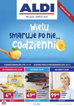 Gazetka promocyjna Aldi, ważna od 23.09.2019 do 29.09.2019.