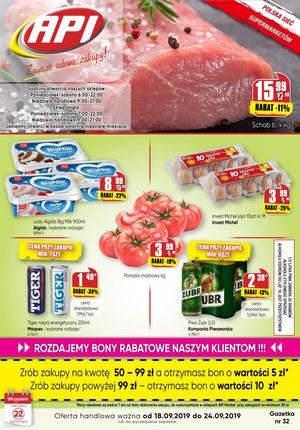 Gazetka promocyjna Api Market, ważna od 18.09.2019 do 24.09.2019.