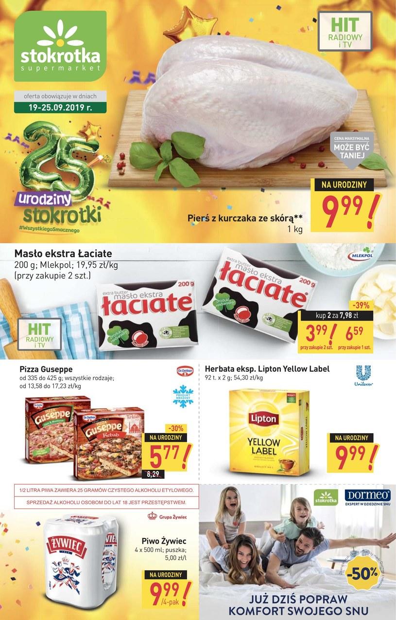 Gazetka promocyjna Stokrotka Supermarket - ważna od 19. 09. 2019 do 25. 09. 2019