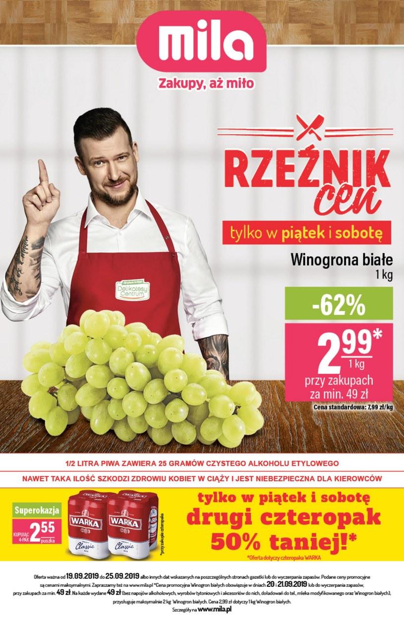 Gazetka promocyjna MILA - ważna od 19. 09. 2019 do 25. 09. 2019