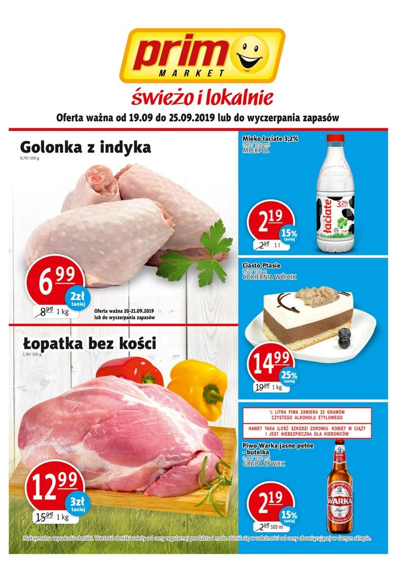 Gazetka promocyjna Prim Market - ważna od 19. 09. 2019 do 25. 09. 2019