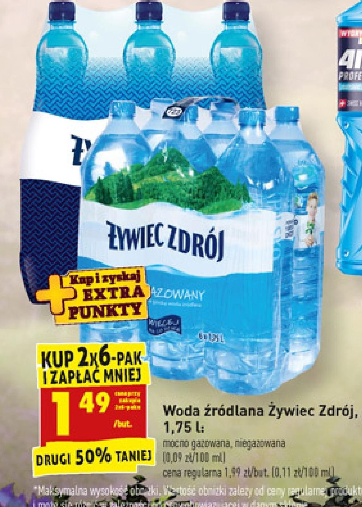 Woda Źródlana Żywiec Zdrój niska cena