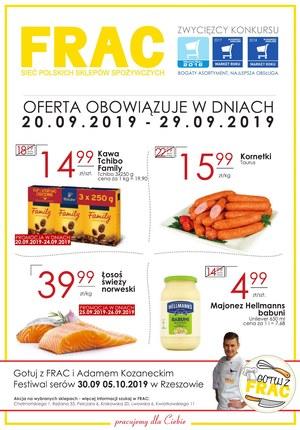 Gazetka promocyjna FRAC, ważna od 20.09.2019 do 29.09.2019.