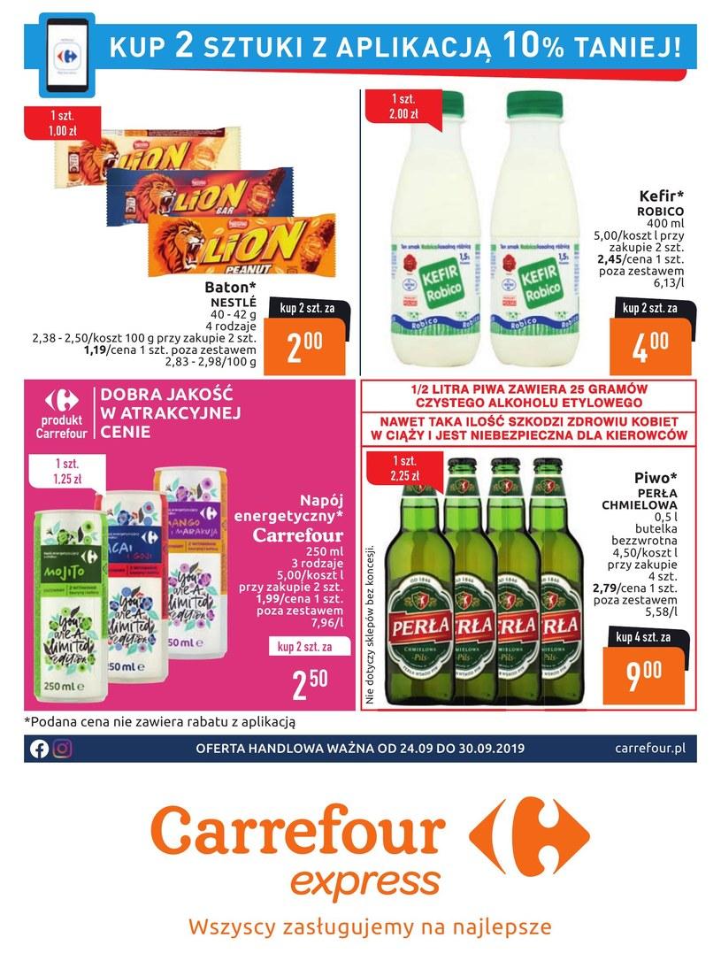 Gazetka promocyjna Carrefour Express - ważna od 24. 09. 2019 do 30. 09. 2019