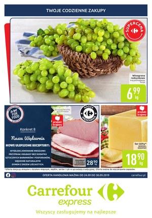 Gazetka promocyjna Carrefour Express, ważna od 24.09.2019 do 30.09.2019.