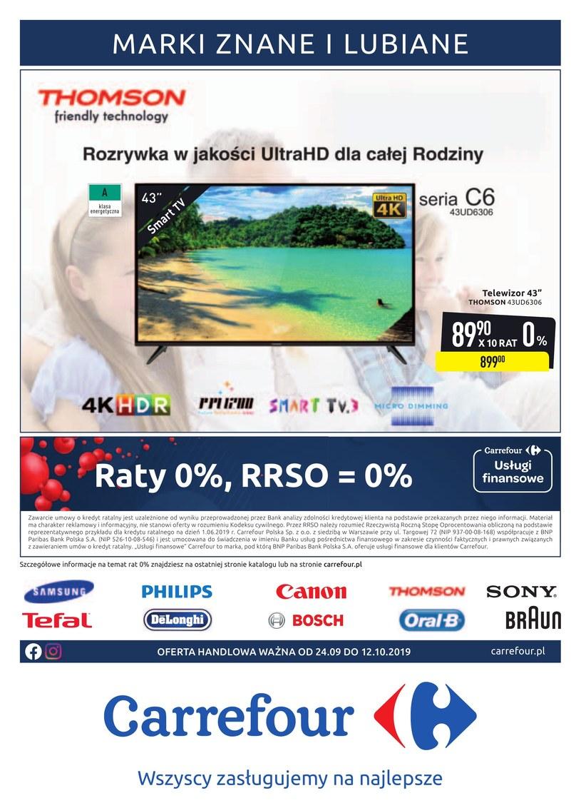 Gazetka promocyjna Carrefour - ważna od 24. 09. 2019 do 12. 10. 2019