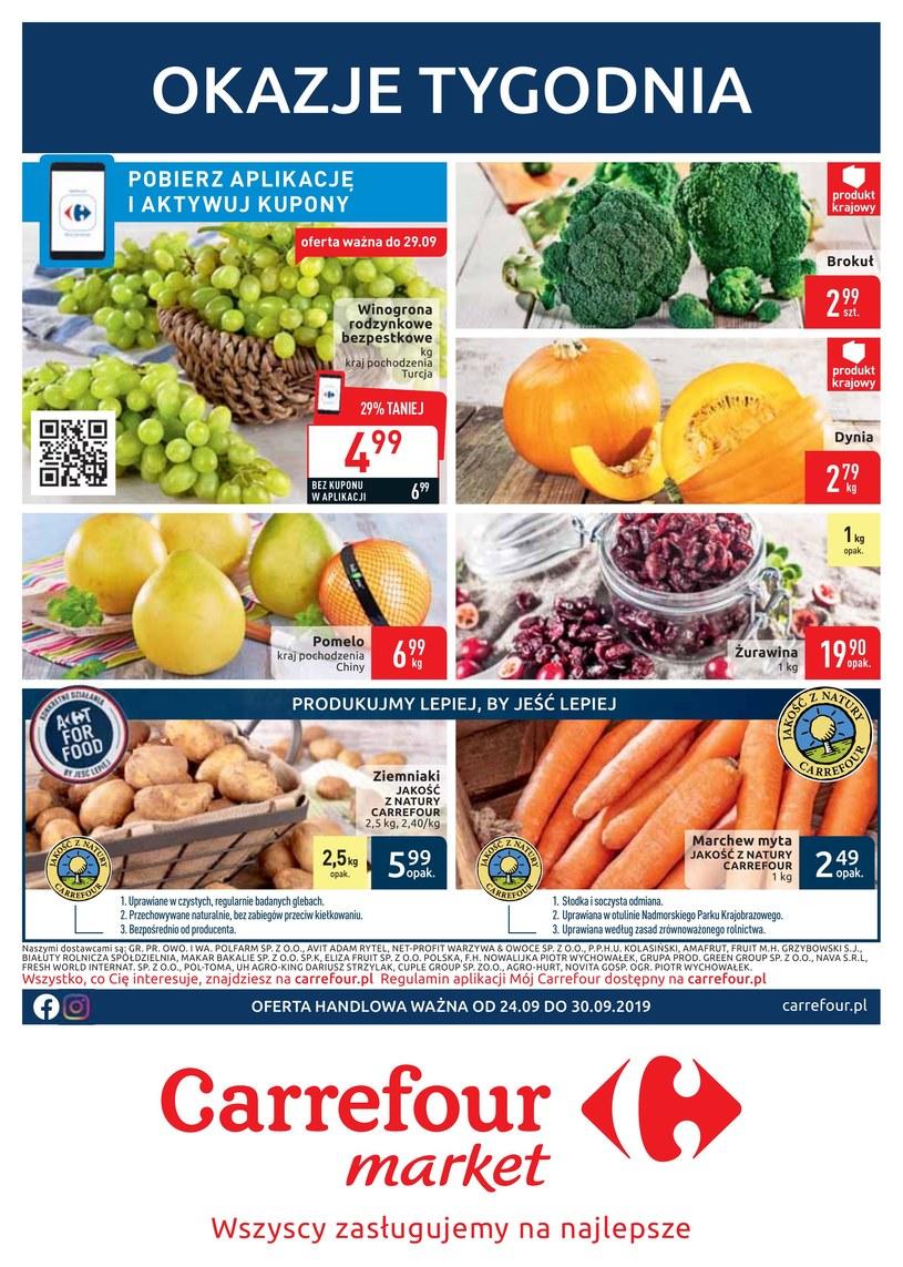 Gazetka promocyjna Carrefour Market - ważna od 24. 09. 2019 do 30. 09. 2019