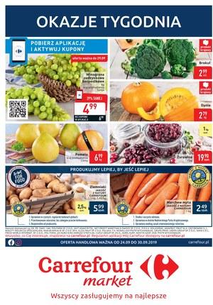 Gazetka promocyjna Carrefour Market, ważna od 24.09.2019 do 30.09.2019.