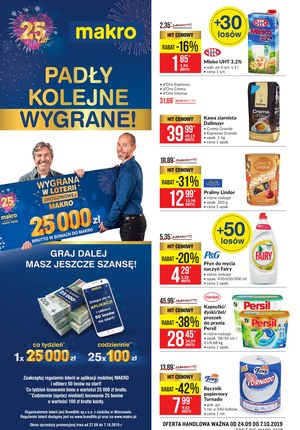 Gazetka promocyjna Makro Cash&Carry, ważna od 24.09.2019 do 07.10.2019.