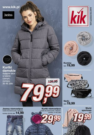 Gazetka promocyjna KIK, ważna od 09.10.2019 do 10.11.2019.