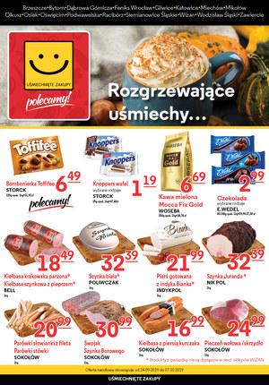 Gazetka promocyjna Uśmiechnięte Zakupy, ważna od 24.09.2019 do 07.10.2019.