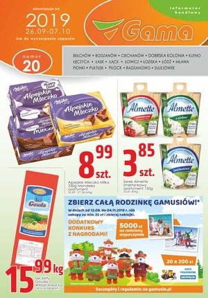 Gazetka promocyjna Gama, ważna od 26.09.2019 do 07.10.2019.