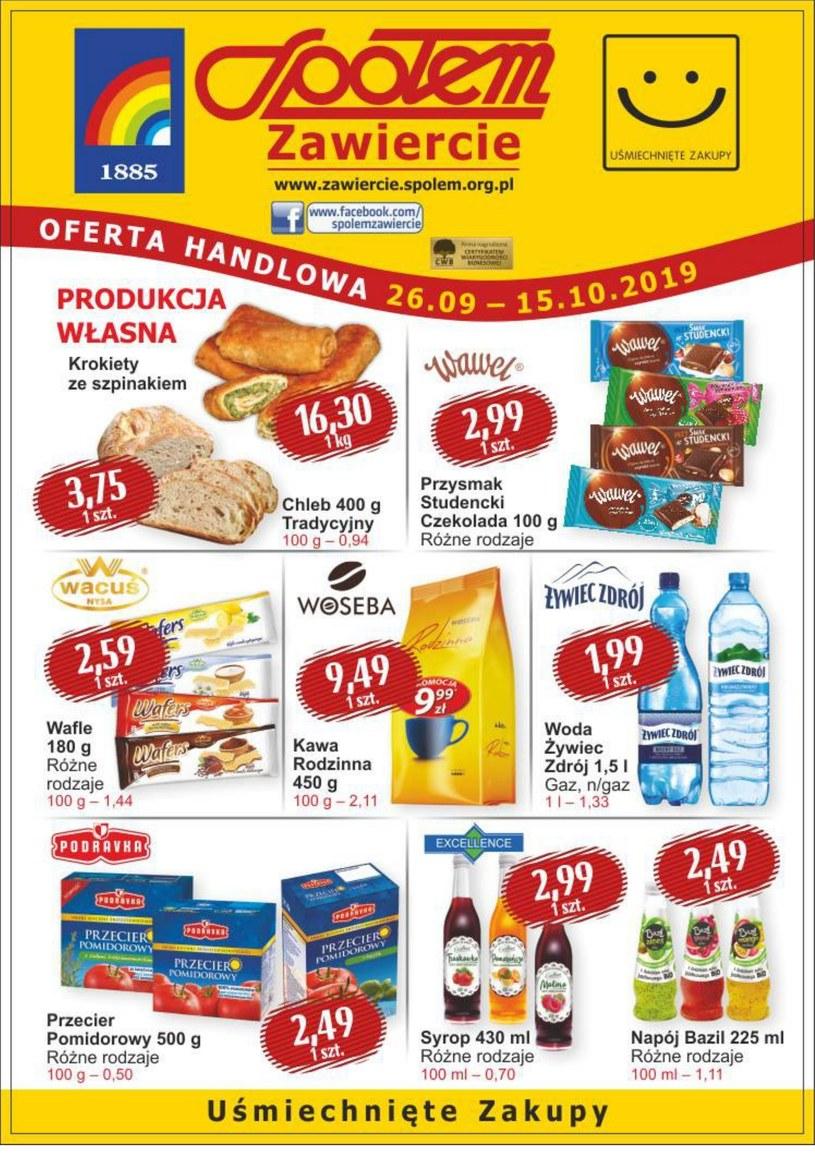 Gazetka promocyjna PSS Społem Zawiercie - ważna od 26. 09. 2019 do 15. 10. 2019