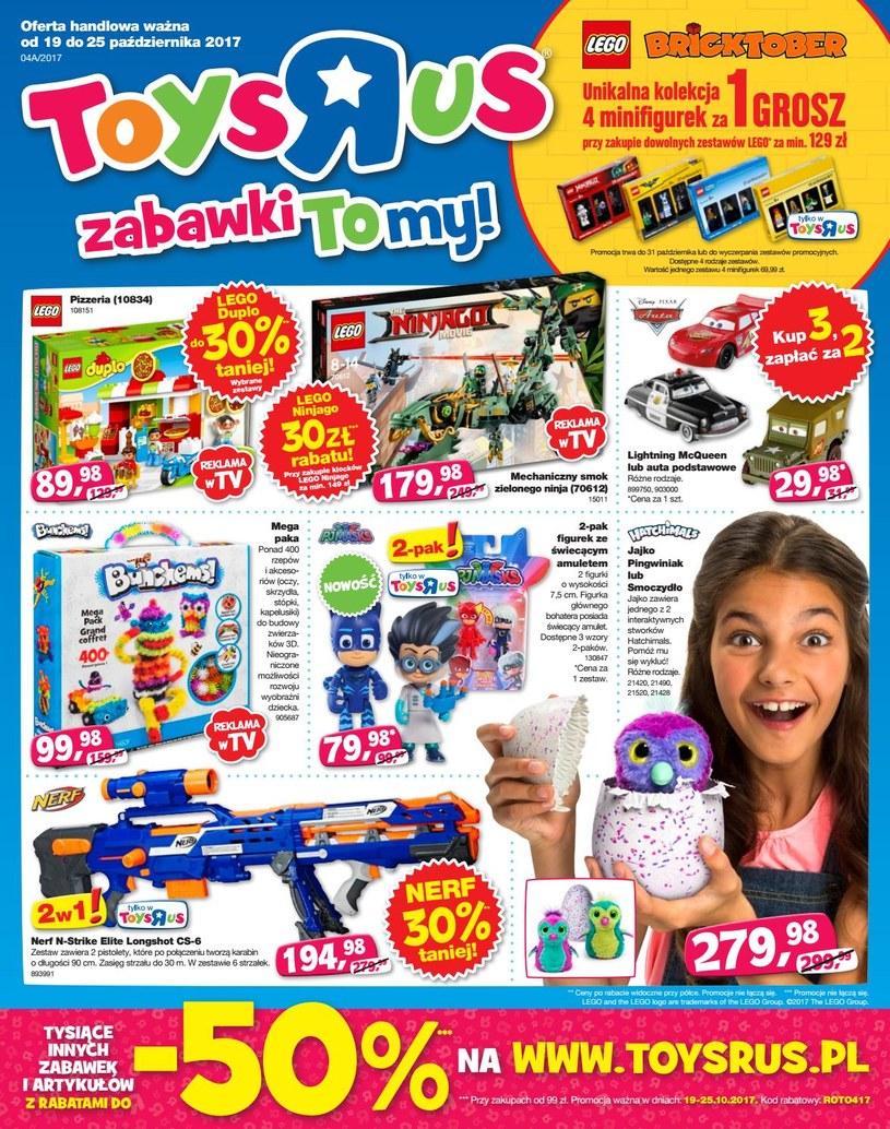 """Gazetka promocyjna Toys""""R""""Us - ważna od 19. 10. 2019 do 25. 10. 2019"""