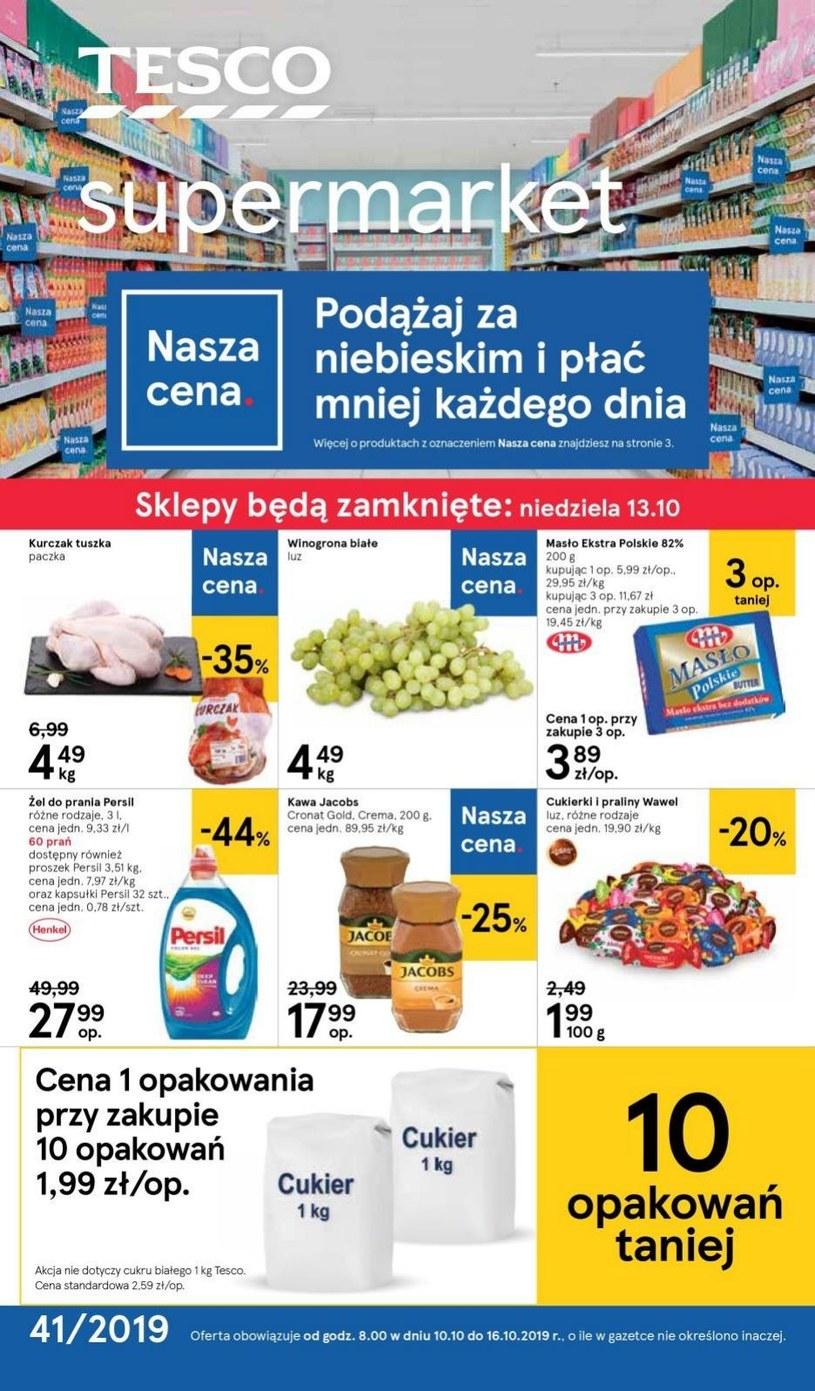 Gazetka promocyjna Tesco Supermarket - ważna od 10. 10. 2019 do 16. 10. 2019