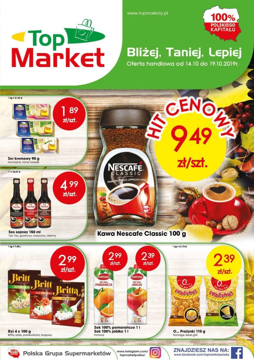 Gazetka promocyjna Top Market - ważna od 14. 10. 2019 do 19. 10. 2019