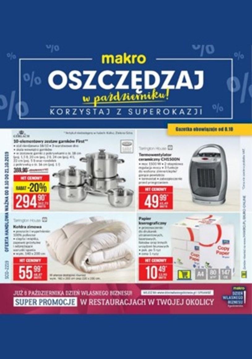 Gazetka promocyjna Makro Cash&Carry - ważna od 08. 10. 2019 do 21. 10. 2019