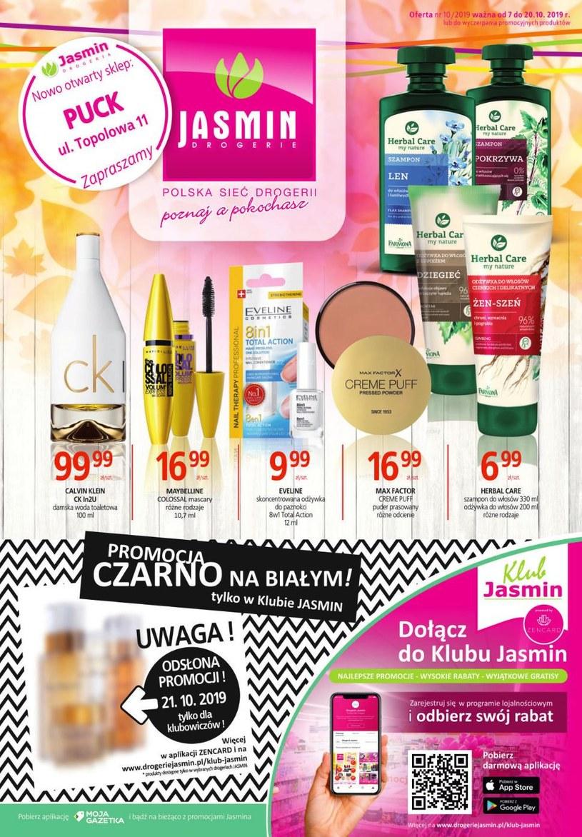 Gazetka promocyjna Jasmin Drogerie - ważna od 07. 10. 2019 do 20. 10. 2019