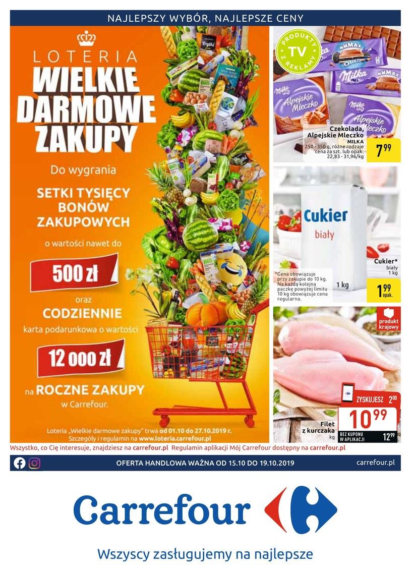 Gazetka promocyjna Carrefour - ważna od 15. 10. 2019 do 19. 10. 2019