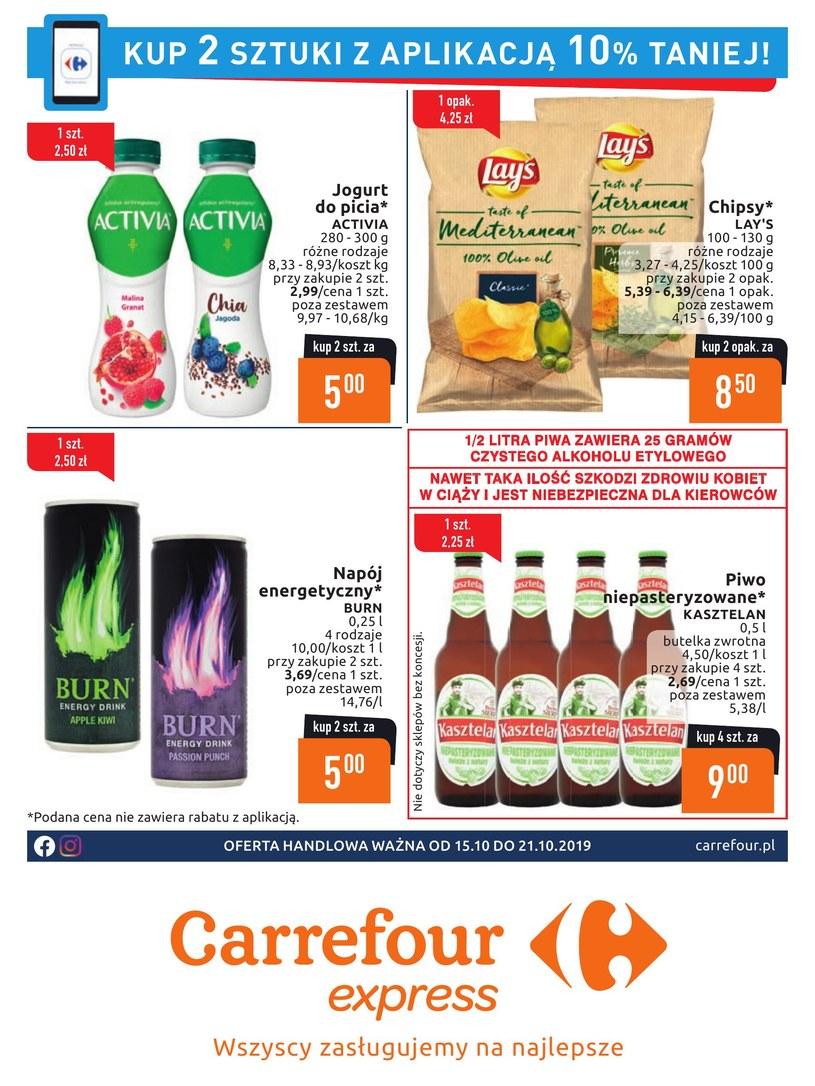 Gazetka promocyjna Carrefour Express - ważna od 15. 10. 2019 do 21. 10. 2019