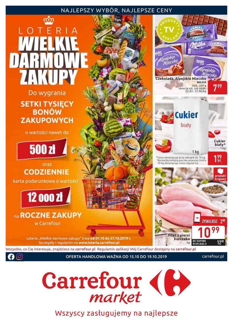 Gazetka promocyjna Carrefour Market - ważna od 15. 10. 2019 do 19. 10. 2019