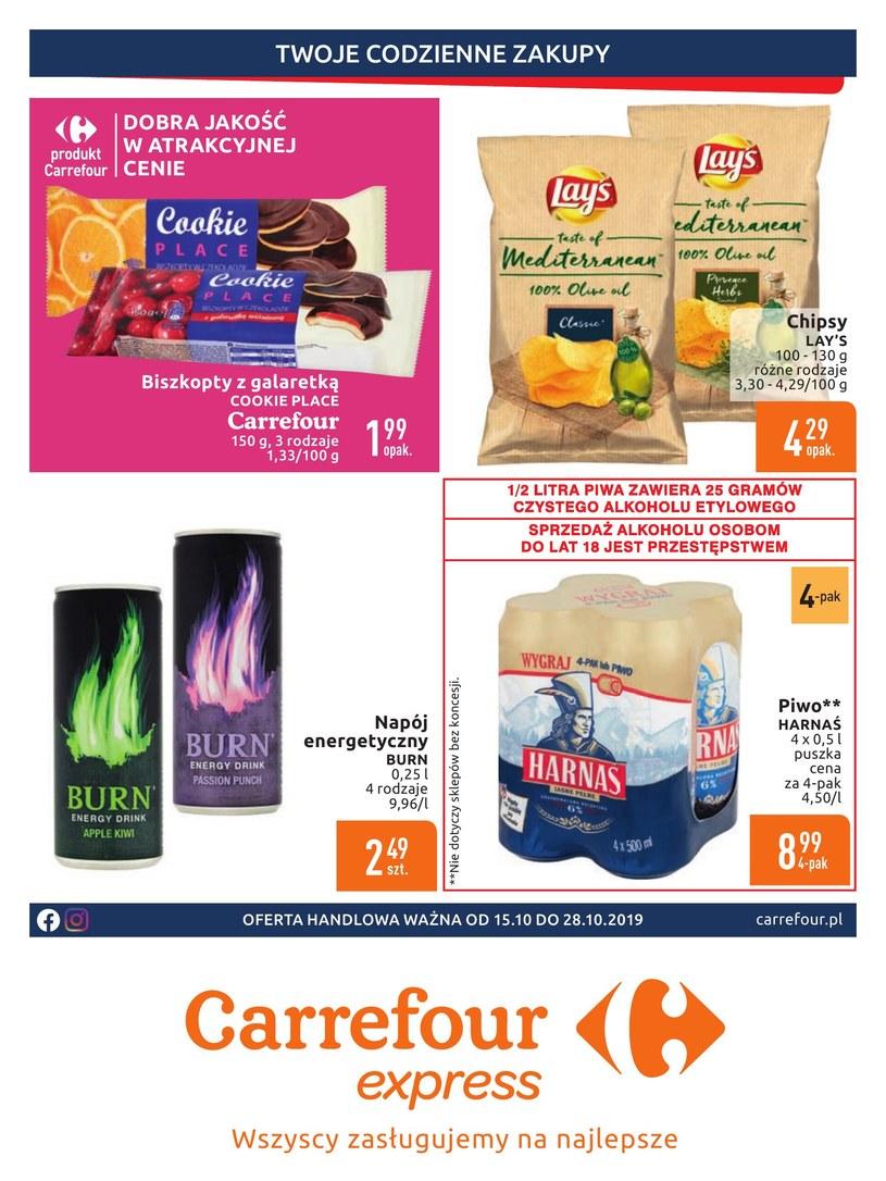 Gazetka promocyjna Carrefour Express - ważna od 15. 10. 2019 do 28. 10. 2019