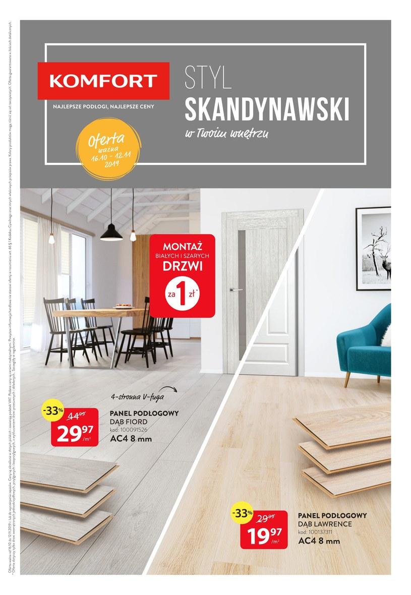 Gazetka promocyjna Komfort - ważna od 16. 10. 2019 do 12. 11. 2019