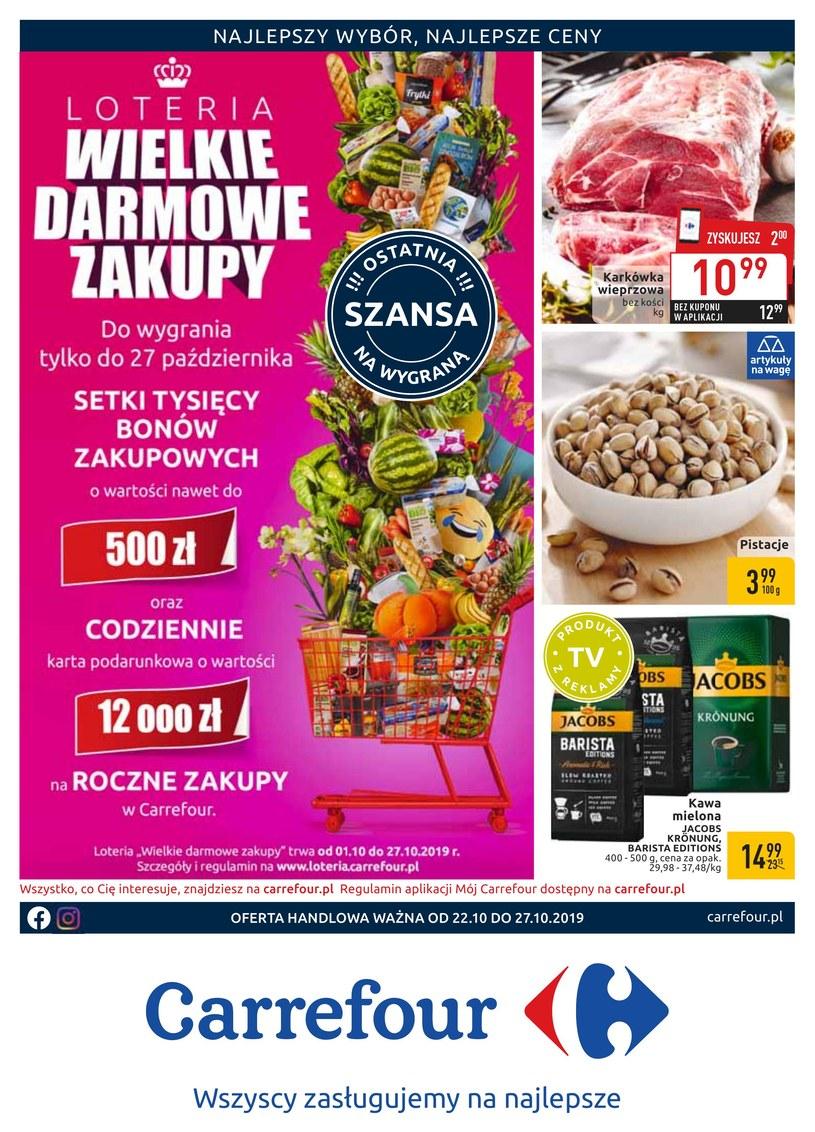 Gazetka promocyjna Carrefour - ważna od 22. 10. 2019 do 27. 10. 2019