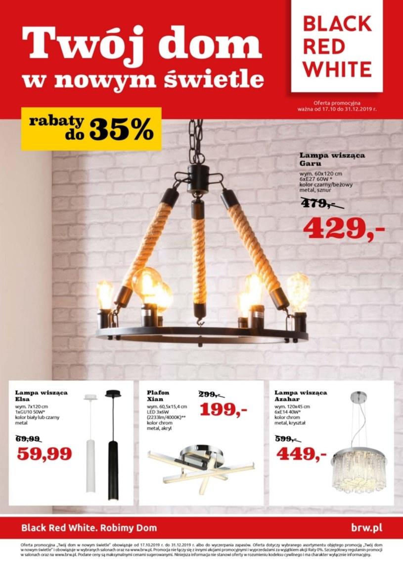 Gazetka promocyjna Black Red White - ważna od 17. 10. 2019 do 31. 12. 2019