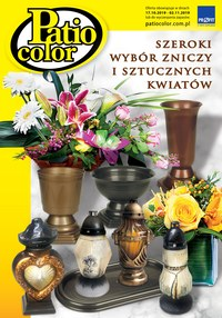 Gazetka promocyjna Patio Color - Szeroki wybór zniczy i sztucznych kwiatek - ważna do 02-11-2019
