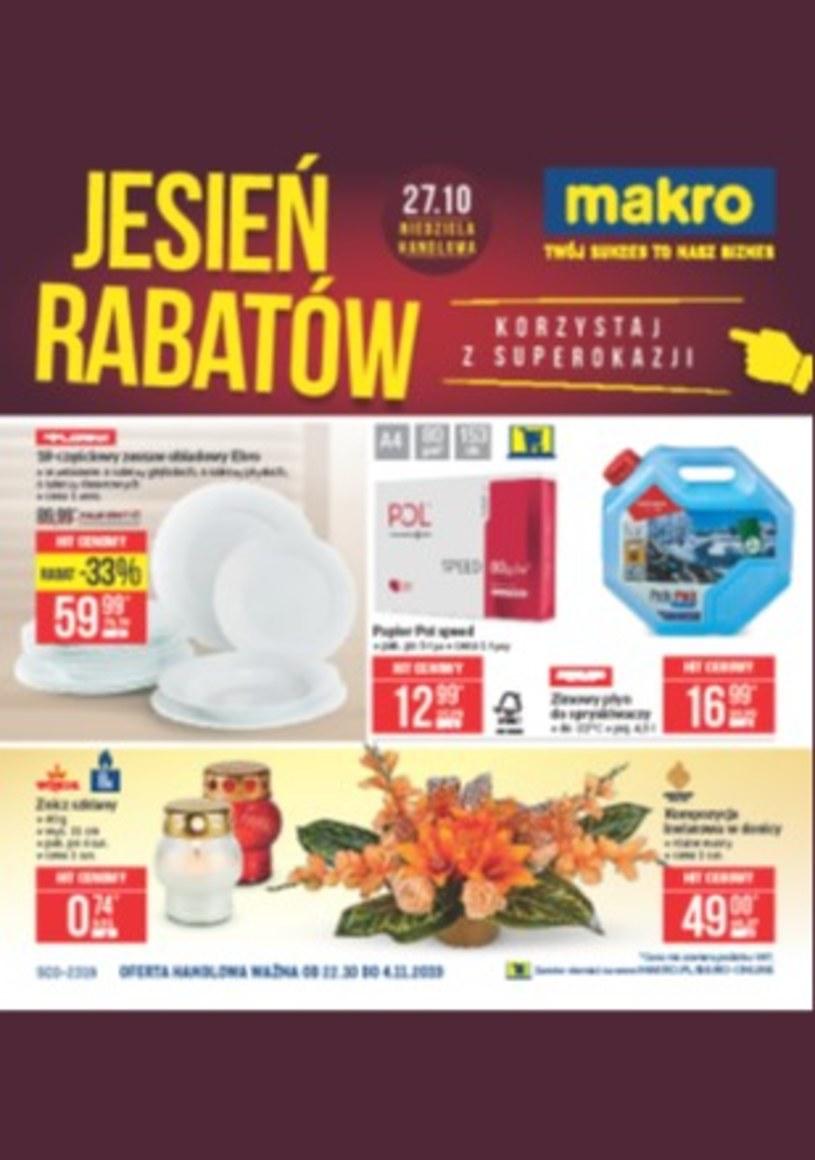 Gazetka promocyjna Makro Cash&Carry - ważna od 22. 10. 2019 do 04. 11. 2019