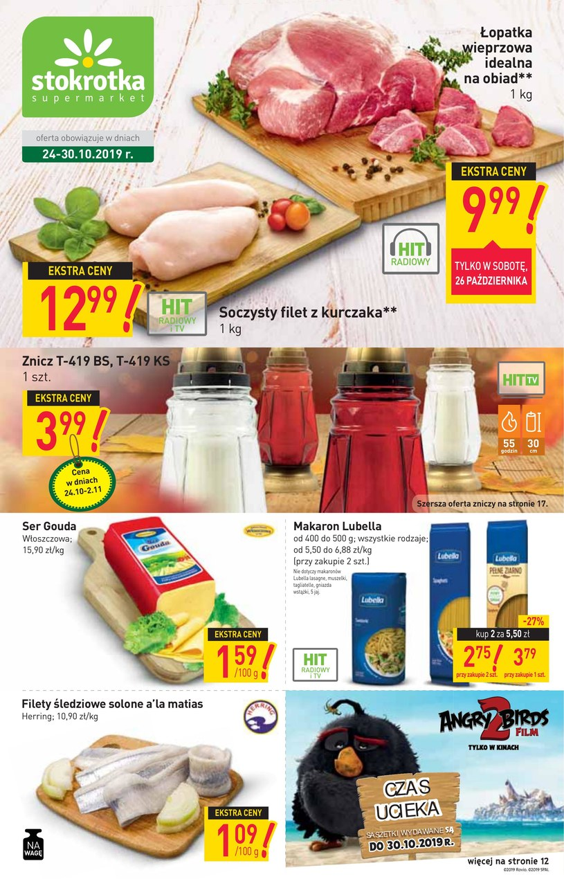 Gazetka promocyjna Stokrotka Supermarket - ważna od 22. 10. 2019 do 30. 10. 2019
