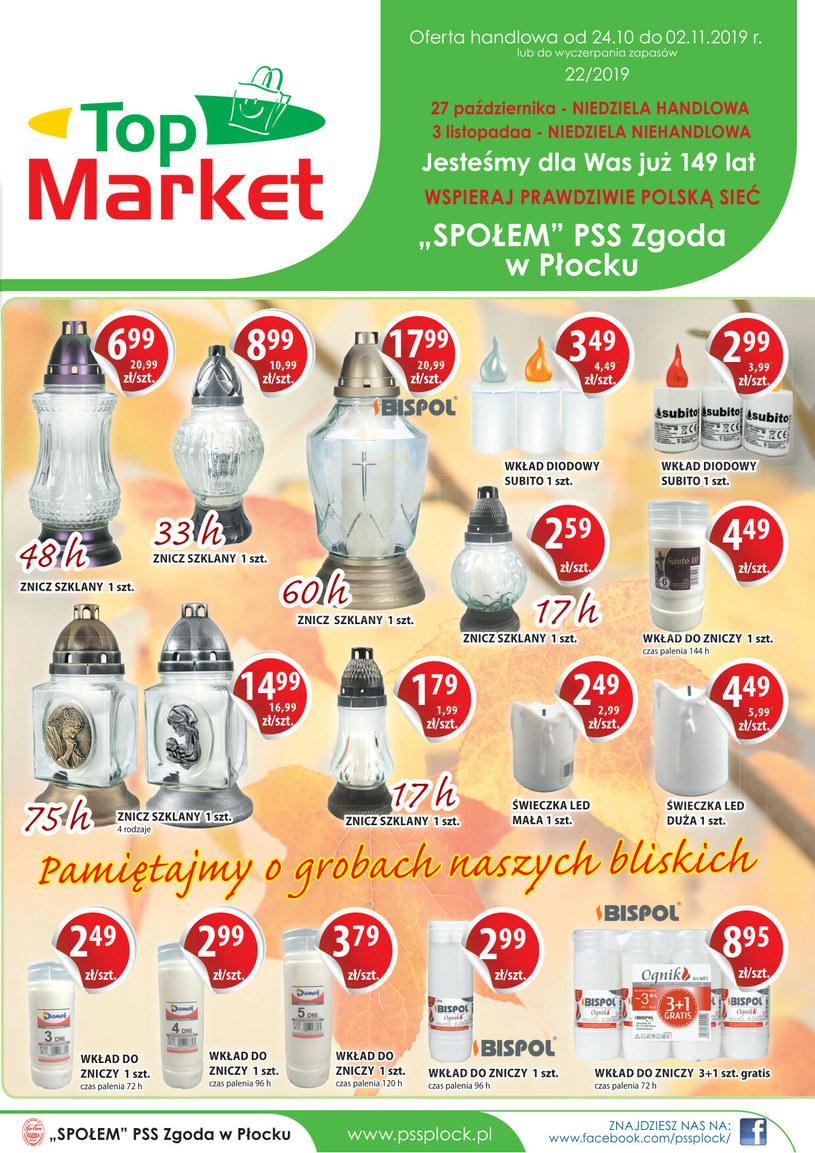 Gazetka promocyjna PSS Zgoda Płock - ważna od 24. 10. 2019 do 02. 11. 2019