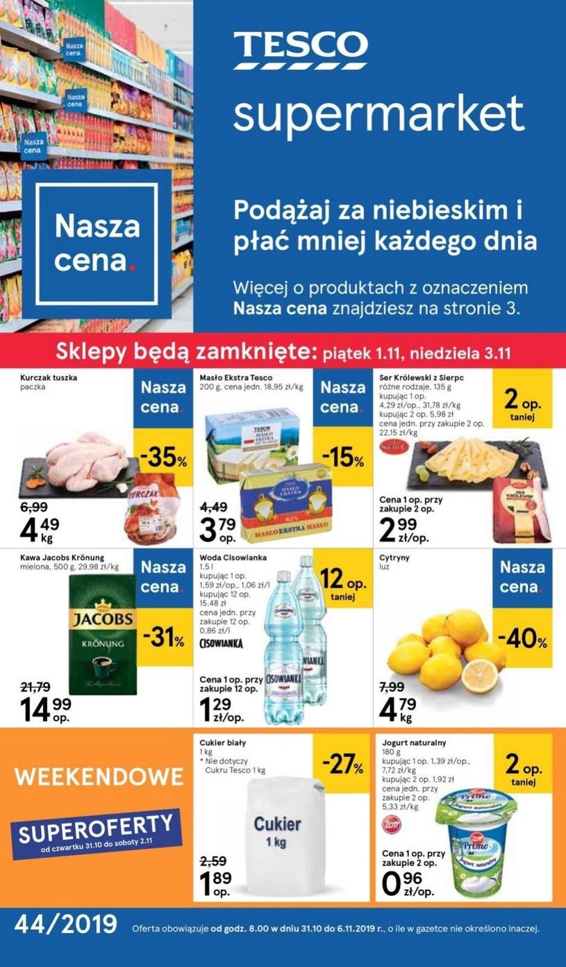 Gazetka promocyjna Tesco Supermarket - wygasła 6 dni temu