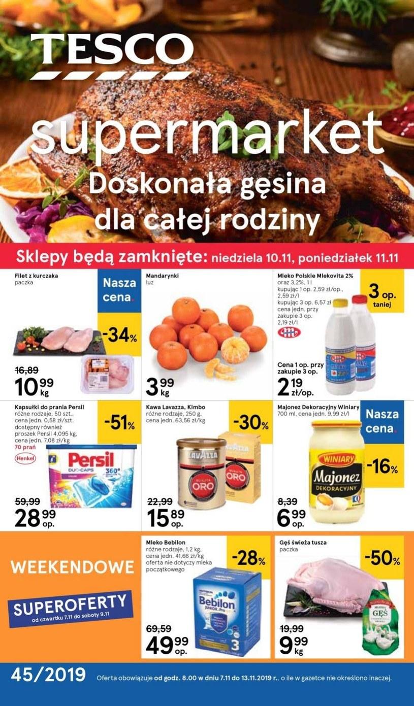 Gazetka promocyjna Tesco Supermarket - ważna od 07. 11. 2019 do 13. 11. 2019