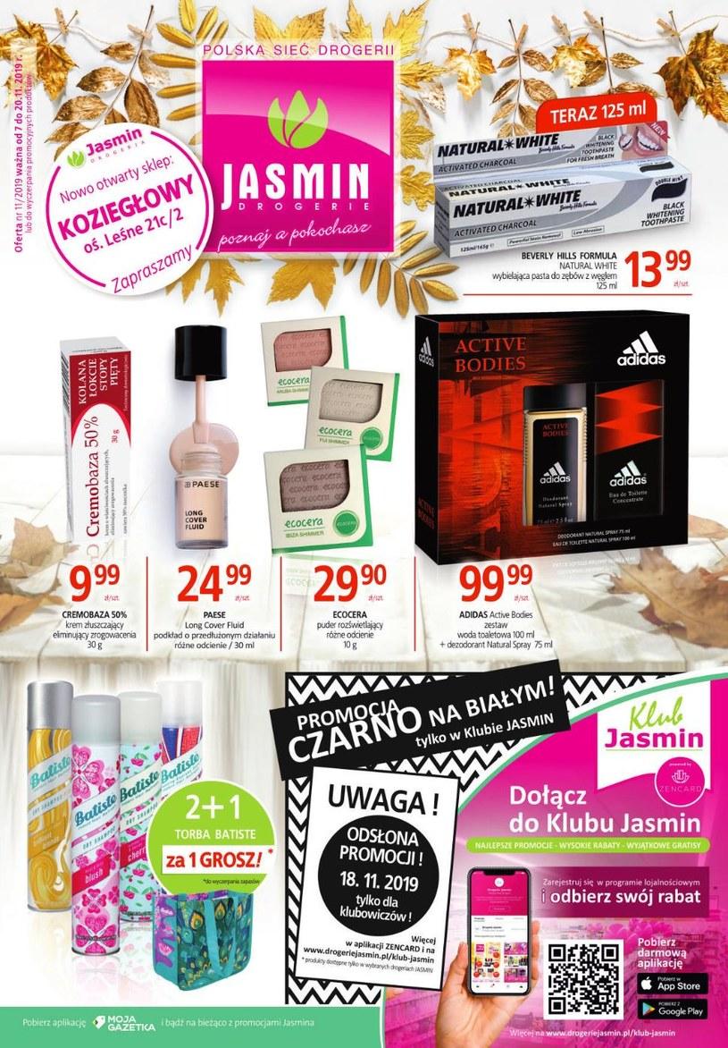 Gazetka promocyjna Jasmin Drogerie - ważna od 07. 11. 2019 do 20. 11. 2019