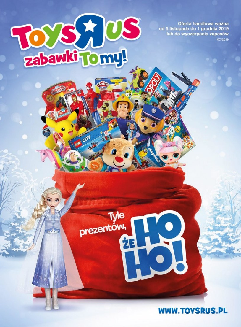 """Gazetka promocyjna Toys""""R""""Us - ważna od 05. 11. 2019 do 01. 12. 2019"""